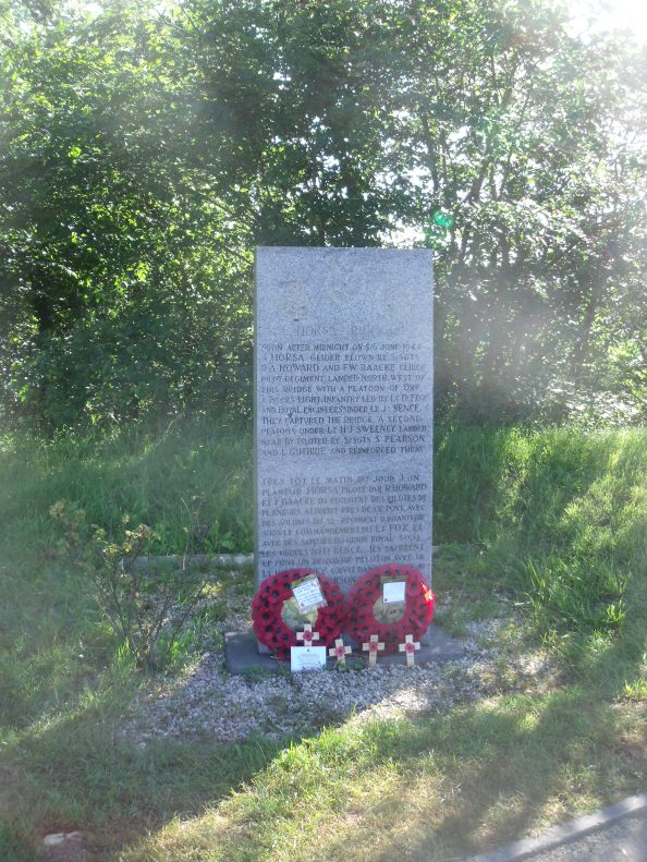 Memorial at the Horsa bridge over the river Orne.