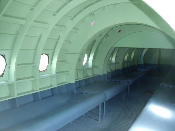 Interior of a Horsa glider.