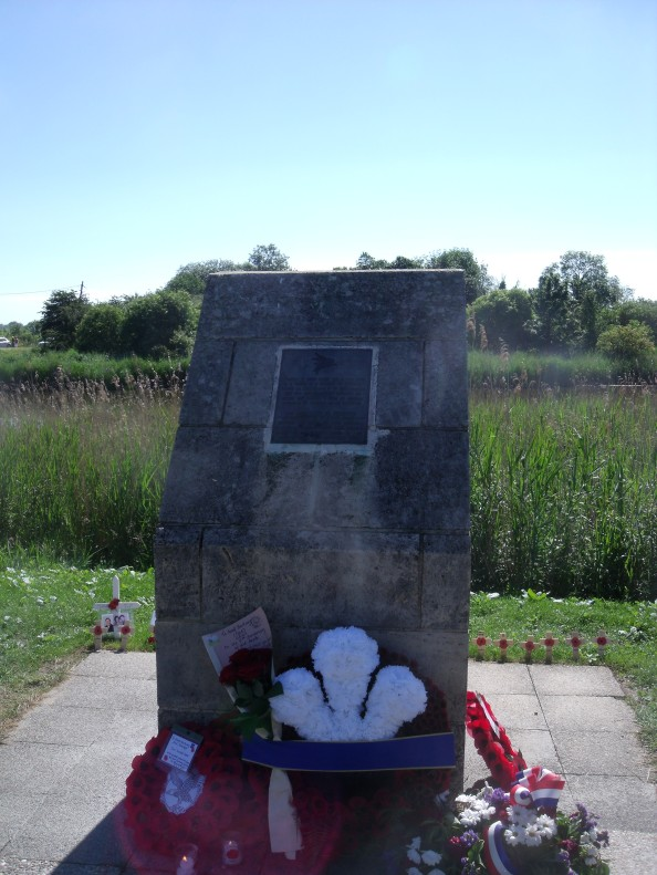 Memorial marking the spot glider no 2 landed on the 6th of June.