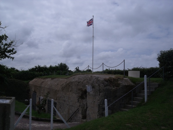 Memorial to the brave men that took this site.