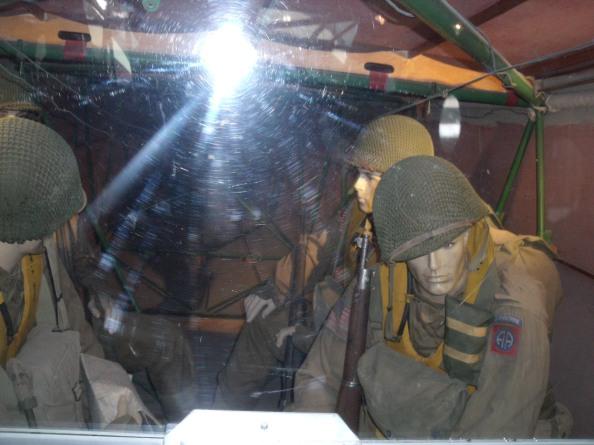 Inside a Waco Glider looking rearward.