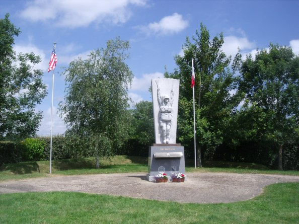 Memorial to the 507th PIR who lost 300 men in Normandy and through  many engagements in this area.