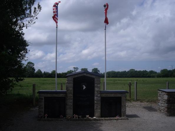 Memorial to the assault on Brécourt Manor.