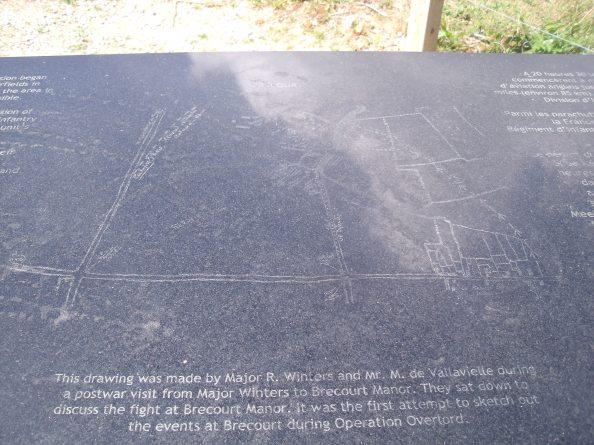 Map of the assault on Brécourt.