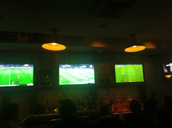 Watching England play at Smithfields so many TV's